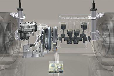 Рис.2. Стартер-генератор с системой управления в компоновке с ДВС